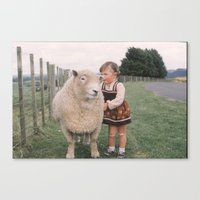 Sheep girl Canvas Print