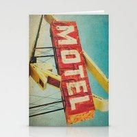 Thrashed Motel Sign Stationery Cards