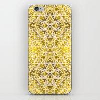 Random Rope On Gold Foil iPhone & iPod Skin