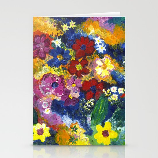 Bright Flowers Stationery Card