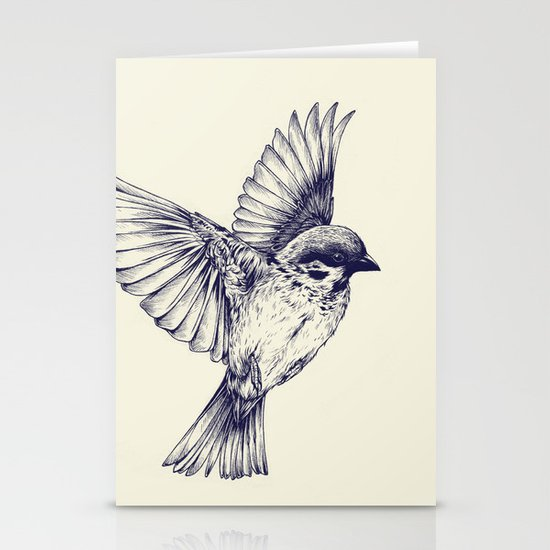 lost bird Stationery Card