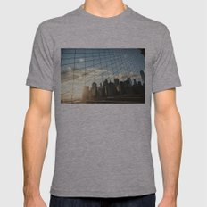 Baby Blue Mens Fitted Tee Athletic Grey SMALL