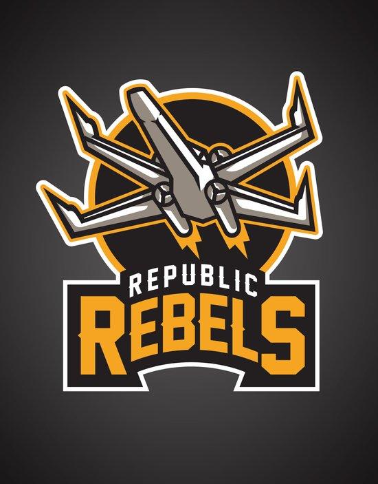 Republic Rebels - Black Art Print