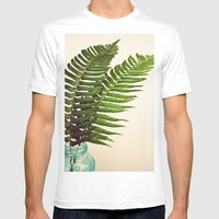 Ferns II Mens Fitted Tee White SMALL