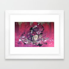 Dont Worry - Party Hard (Pink) Close Up Framed Art Print