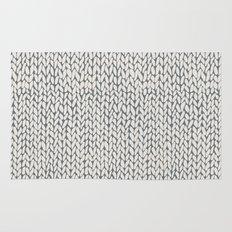 Hand Knit Grey Rug