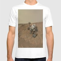 NASA Curiosity Rover's Self Portrait at 'John Klein' Drilling Site in HD Mens Fitted Tee White SMALL