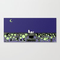 GATHERING NUTS. Canvas Print