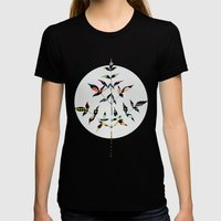 Flutter Womens Fitted Tee Black SMALL