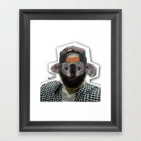 KASPER TURNT UP Framed Art Print