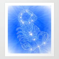 Scorpio, constellation series Art Print