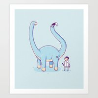A new friend Art Print