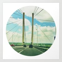 The Dartford Crossing Art Print