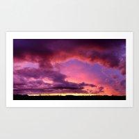Redsky Art Print