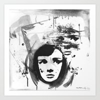 Audrey on a stencil Art Print