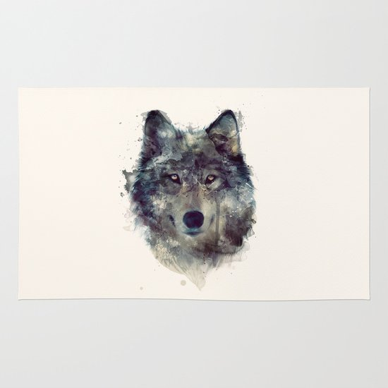 Wolf // Persevere  Area & Throw Rug