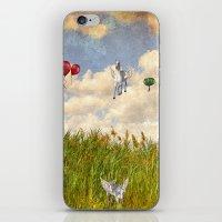 Pegasus and Balloons iPhone & iPod Skin