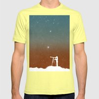 Through the Telescope Mens Fitted Tee Lemon SMALL