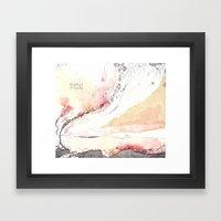Traces (V) Framed Art Print