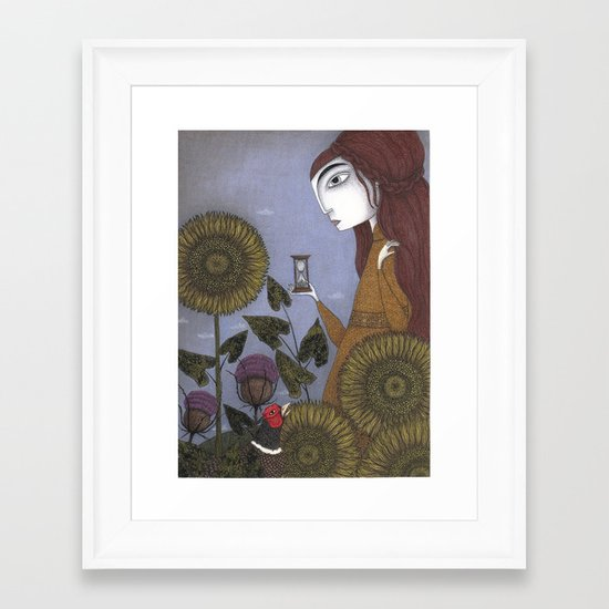 Thirty-eight Leaves Framed Art Print