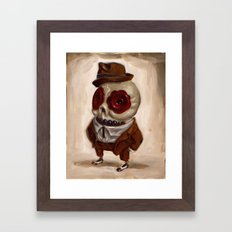 Sharp Calavera Framed Art Print