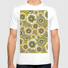 Floral3 SMALL White Mens Fitted Tee