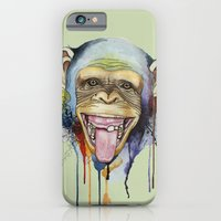 iPhone & iPod Case featuring monkey by Annie illustrations