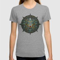 Stone Of The Sun II. Womens Fitted Tee Tri-Grey SMALL