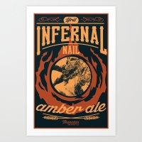 Infernal Nail Amber Ale … Art Print