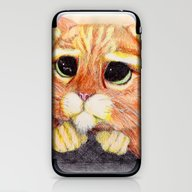 iPhone & iPod Skin featuring Puss In Boots. by DeMoose_Art