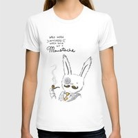 Moustache wins. Always. Womens Fitted Tee White SMALL