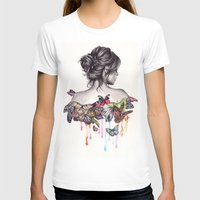 watercolor T-shirts featuring Butterfly Effect by KatePowellArt