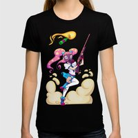 Riot Magical Girl Womens Fitted Tee Black SMALL
