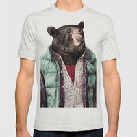 Black Bear Mens Fitted Tee Silver SMALL