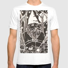 Gnome SMALL Mens Fitted Tee White