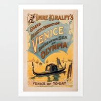 Vintage Theatrical Poste… Art Print