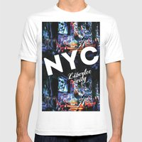 NEW-YORK (LIBERTEE CITY) Mens Fitted Tee White SMALL