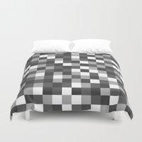 Colour Block Black and White Duvet Cover