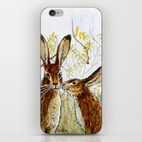 Funny Rabbits - Little K… iPhone & iPod Skin