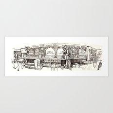 de vere's irish pub, davis Art Print