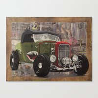 '32 Ford Roadster Warhawk Edition Canvas Print