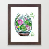 Small Things Terrarium Framed Art Print
