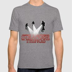 Stranger Things Mens Fitted Tee Tri-Grey SMALL