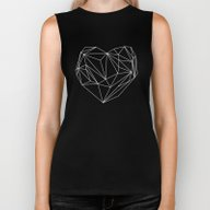 Heart Graphic Biker Tank