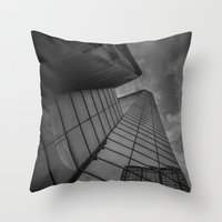 looking up; feeling grey... Throw Pillow