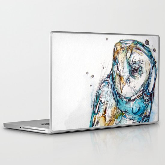 The Sea Glass Owl Laptop & iPad Skin