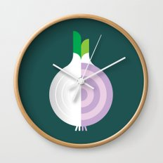 Vegetable: Onion Wall Clock