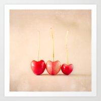 Cherry Heart Goodness Art Print