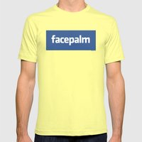 Facepalm Mens Fitted Tee Lemon SMALL