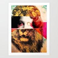 Lady Lion Art Print